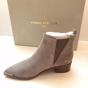 New Marc Fisher Ltd suede taupe boots sz 5M